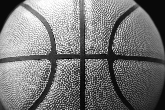 Closed up view of basketbal outdoor