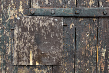 wooden surface of old door