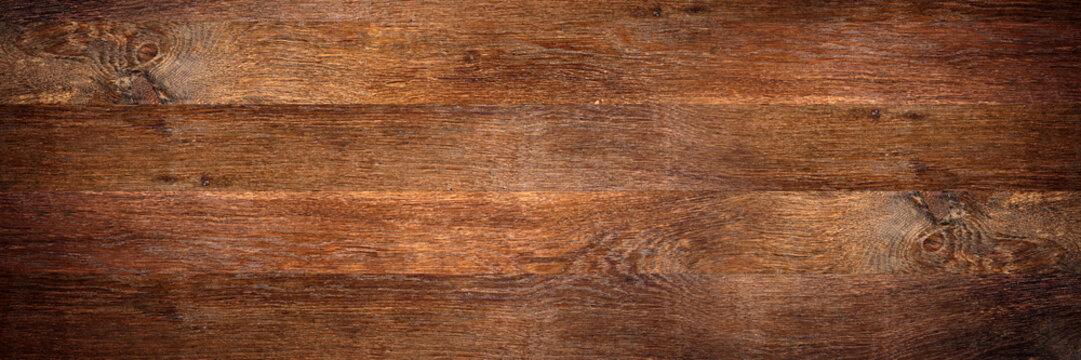 wide rustic old oak wooden background