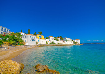 in Spetses island in Greece