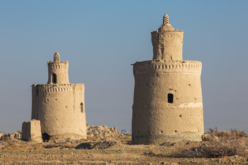 Exterior of the traditional pigeon houses in Yazd province, Iran