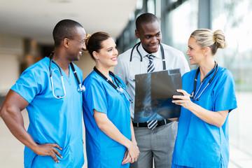 medical team working together