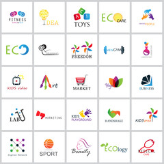 Flat Colorful Icons Set - Vector Illustration.Collection Of Color Icons,For Web,Websites, Print,Presentation Templates,Mobile Applications And Promotional Material.Logo Medical,Ecology,Digital Network