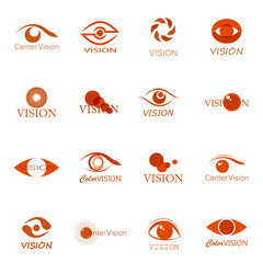 Vision Icons Set - Isolated On White Background - Vector Illustration, Graphic Design, Editable For Your Design. Collection Of Modern Eyes