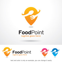 Food Point Logo Template Design Vector