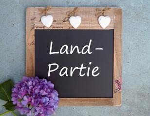 Land - Partie - Landpartie