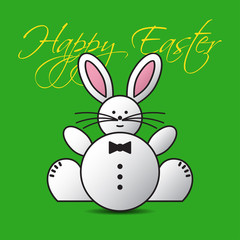 greeting card - lovely Easter bunny