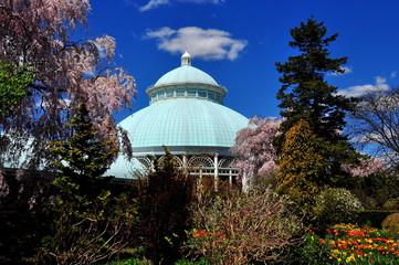 Bronx, New York - April 29, 2015:  Enid Haupt Conservatory at the New York Botanical Garden  *