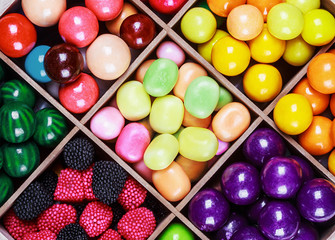 assortment of candy and gum