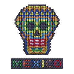 Beaded Skull from Mexico.