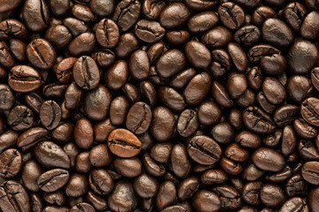 background of brown coffee beans