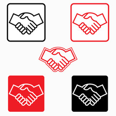 Handshake icon - vector illustration, graphic element