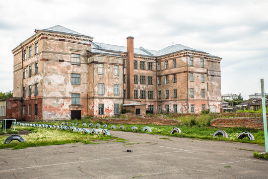 old  ruins of abandoned school