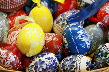 Background with Easter eggs. Easter eggs as a colorful backgroun
