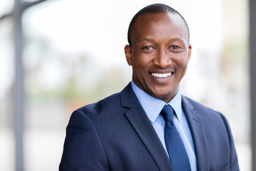 african business man close up portrait