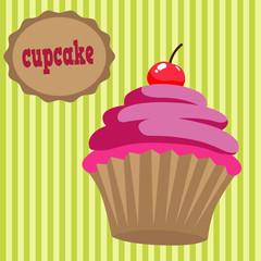 Капкейк, лого кекс, сладость и выпечка