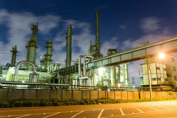 Factories in Kawasaki at night