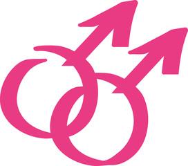 Pink gay signs hand drawn