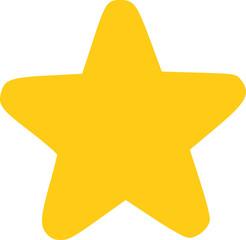 Yellow comic star