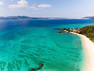 沖縄の海岸線・ビーチ空撮