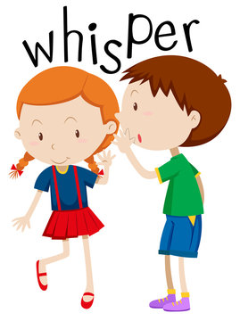 Boy whispering to the girl