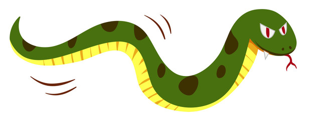 Snake with monster face