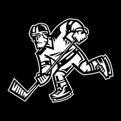 Hockey Player vector illustration