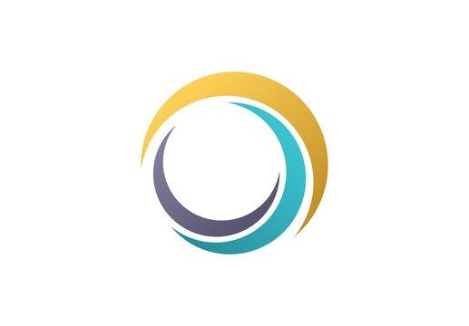 circle sphere logo,global nature elements symbol icon vector design