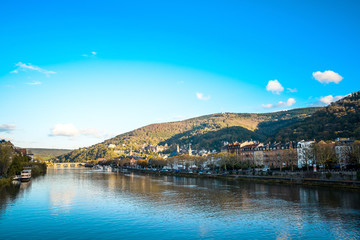 view to old town of Heidelberg