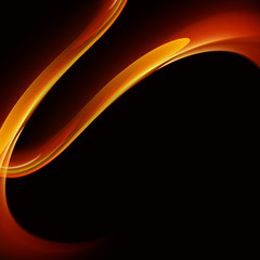Flame texture. Wavy colored background