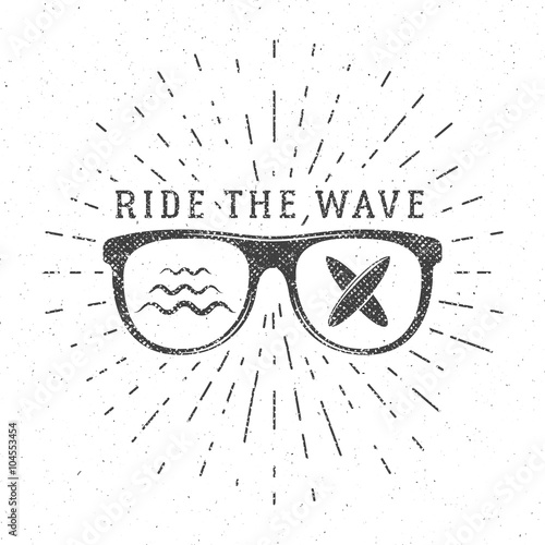 """Vintage Surfing Graphics and Poster for web design or ..."