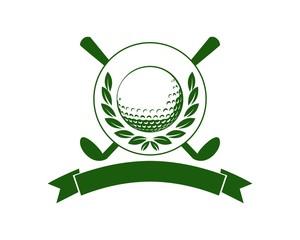 golf club logo icon vector