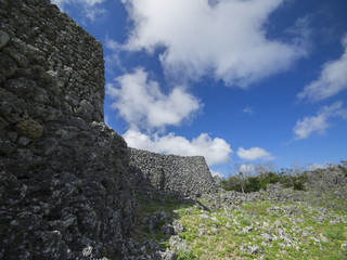 Itokazu Castle Ruins in Okinawa, Japan