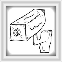 Simple doodle of a security camera