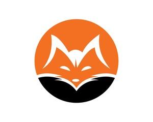 fox logo icon vector