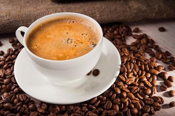 Morning latte beverage