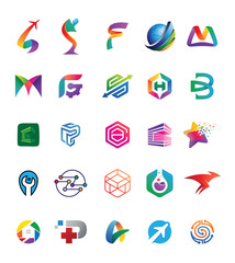 25 Graphic Vector Logo Design Element v.3