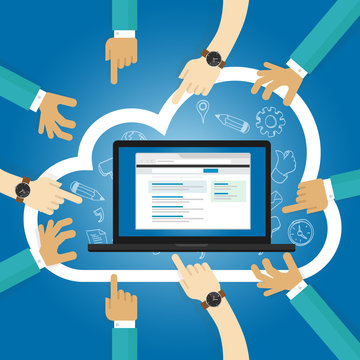 SaaS Software as a service cloud application access internet subscription basis centrally hosted on-demand software