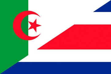 Waving flag of Costa Rica and Algeria