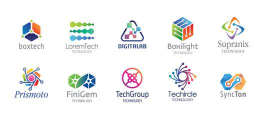 Technology Logo Design Set V.3
