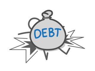 Crushed by debts