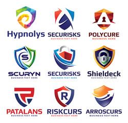 Security Shield Logo Design Set V.1