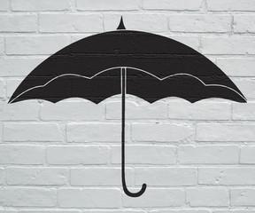 Street art, parapluie