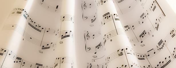 Musiknoten als Hintergrund