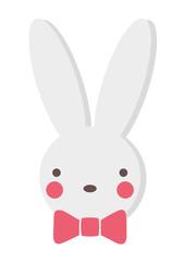 Bunny Hasenkopf freigestellt Vektor