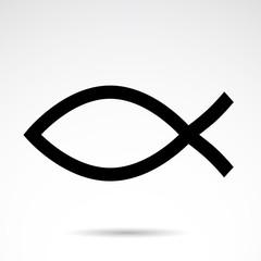Christianity symbol - vector icon.