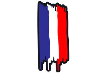 France National Flag Illustration
