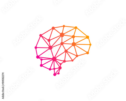 Quot Brain Network Logo Design Template Quot Stock Image And