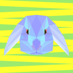 Abstract  polygonal rabbit background