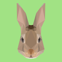 Abstract geometric polygonal rabbit